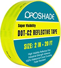 DOT-C2 Yellow Reflective Tape 2'' × 20', Reflector Conspicuity Tape Stickers High Intensity Waterproof