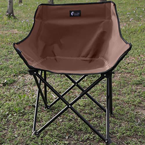 YOLER Sillas de camping, sillas plegables portátiles con acolchado y bolsa de transporte, estables, ligeras, para picnic, viajes, al aire libre, senderismo