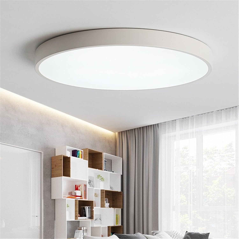 Plafonnier LED rond lampe de salon blanc pour chambre restaurant étude couloir porche balcon 40cm