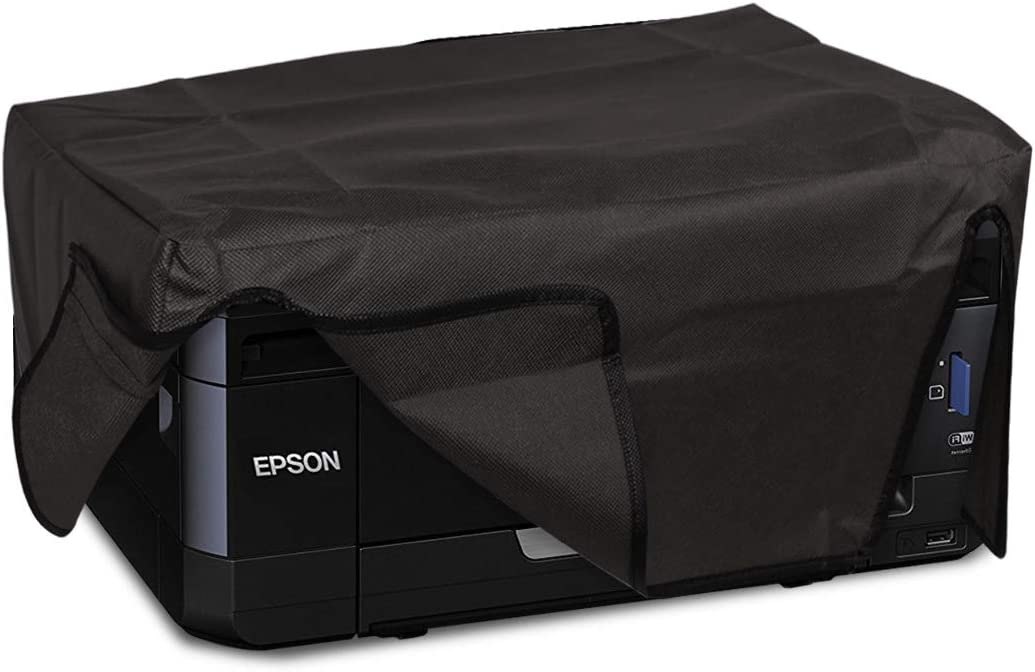 kwmobile Cover Compatible with Epson Expression Premium XP-830 - Dust Cover Printer Protector - Dark Grey