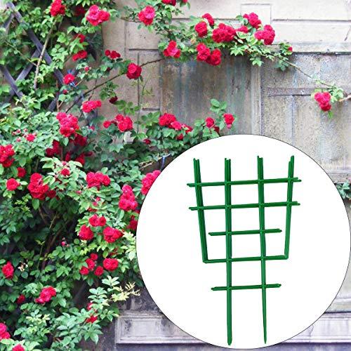 Eurobuy 10 Stück Gitter für Kletterpflanzen DIY Gartenpflanzen Klettergitter Reben Stütze Rack Kunststoff Topfpflanze Stützen für Gartenhof