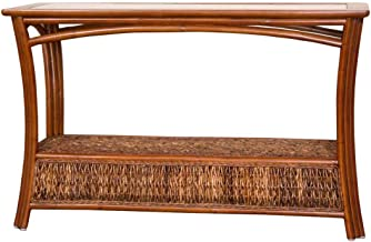 Alexander & Sheridan PAN023-SI Panama Sofa Table in Sienna Finish with Glass