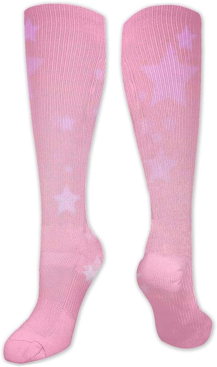 Red Star Knee High Socks Leg Warmer Dresses Long Boot Stockings For Womens Cosplay Daily Wear