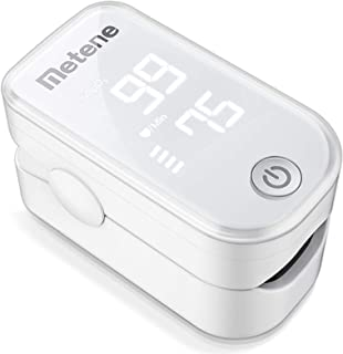 Pulse Oximeter Fingertip, Blood Oxygen Saturation Monitor with Pulse Rate and Accurate Fast Spo2 Reading Oxygen Meter, Por...