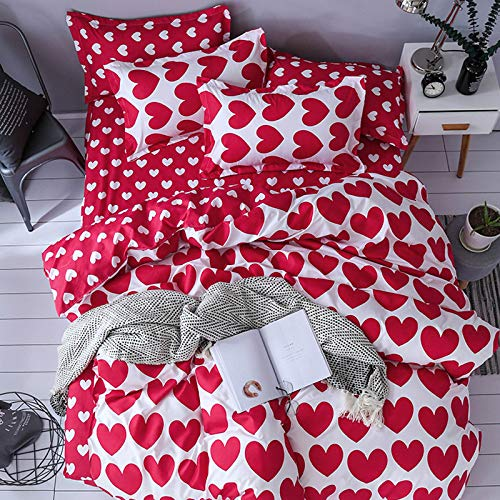 GYHJG 100% Polyester Bedding, Quilt Cover, Bed Sheet, Pillowcase, Four-Piece Single Three-Piece Suit, Double Four-Piece Suit