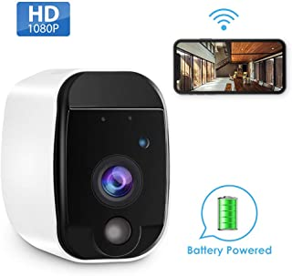 GEREE Wireless Home Security Camera with Rechargeable, HD Video, Indoor/Outdoor, Motion Detection, Two-Way Audio,Night Vision,Wall Mount(Battery Powered)