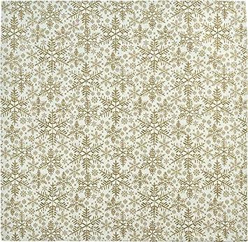 07 Sander Weihnachten Snowfall Tischl/äufer 50x140cm Gold