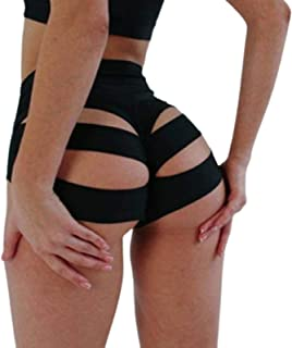 Shorts for Women High Waist Cut Out Panties Solid Color Dance Wear Skinny Brief Knicker Hot Pants Oversized