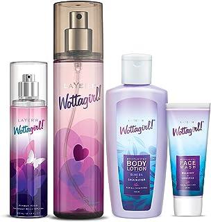 Layer'r Wottagirl Secret Crush Body Splash for Women 135ml, Amber Kiss Body Splash for Women 60ml with Wottagirl Moisturiz...