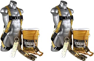 Guardian Fall Protection (Qualcraft) 00815 BOS-T50 Bucket of Safe-Tie with Temper Anchor, 50-Foot Vertical Lifeline Assembly and HUV (2 Kits)