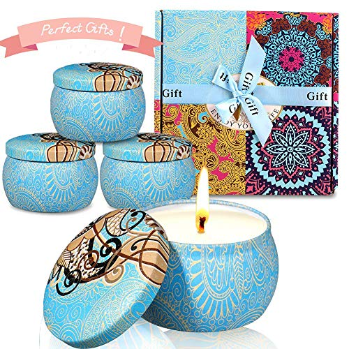 Bougies parfumées, Paquet de 4 (480g) Bougies à la...