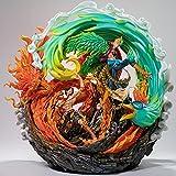 zzdgfc One Piece GK Statua Barbabianca Pirati Fire Punch Portgas D Ace E Phoenix Marco Resin Action Figure Collection Model Toys C310