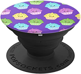 Cupcake Pop Socket Cute Kawaii Style Girl Baking Purple Gift - PopSockets Grip and Stand for Phones and Tablets