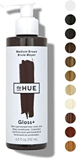 dpHUE Gloss+ Medium Brown Semi-Permanent Hair Color & Conditioner, 6.5 oz - Color Boost with Healthy Shine - Deep Conditioning Treatment - No Peroxide, Ammonia or Mixing - Gluten-Free, Vegan