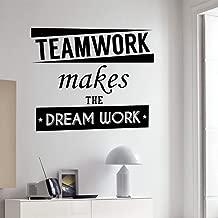 IZSD Wall Sticker Wall VinylApplique Quote Teamwork Let Dream Work Inspiration Word Sticker Home Office Decoration MuralDIY