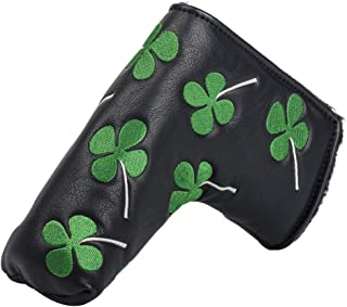 HIFROM(TM) Golf Putter Head Cover headcover Shamrock Embroidered Blade Fit All Brands