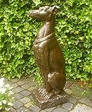 Unbekannt TORWÄCHTER Statue WINDHUND Hund 80cm HOCH GARTENFIGUR TÜRDEKO GARTENDEKO NEU
