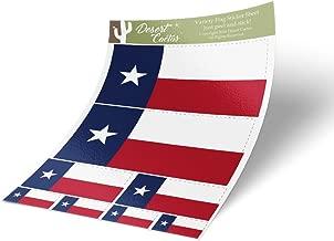 Texas TX State Flag Sticker Decal Variety Size Pack 8 Total Pieces Kids Logo Scrapbook Car Vinyl Window Bumper Laptop Texan V
