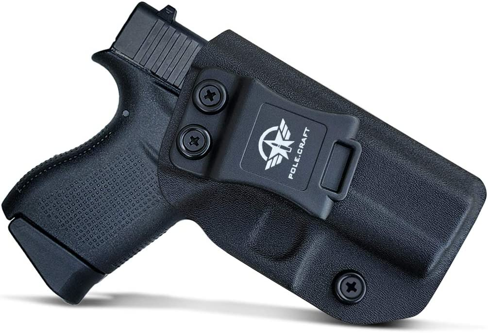 PoLe.Craft IWB Tactical KYDEX Gun Holster Custom Fits: Glock 43 43X Funda Pistola Case Inside Concealed Carry Holster Guns Accessories
