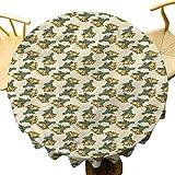 VICWOWONE Mantel de Navidad – 70 pulgadas redondo mantel de mesa de protección de Navidad Campanas en pares