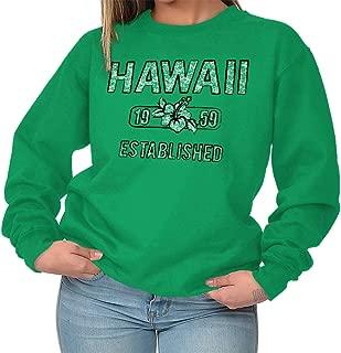 Hawaii Hibiscus Vintage Workout Americana Crewneck Sweatshirt