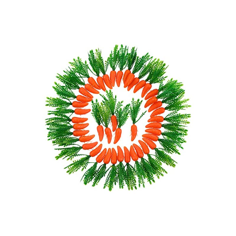 silk flower arrangements zonon easter carrots mini plastic artificial carrot ornaments for diy crafts home kitchen party decorations