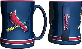 St. Louis Cardinals Coffee Mug - 14oz Sculpted Relief - Blue
