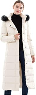 Gocgt Mens Coat Thickened Cotton Puffer Jacket with Faux Fur Trimmed Hood