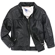 LJYH Boys Leather Jacket New... LJYH Boys Leather Jacket New Spring Children's Collar Motorcycle Faux Leather Zipper Coat