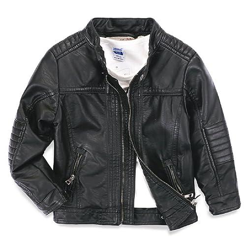4924fc74a Boy Leather Jacket  Amazon.co.uk