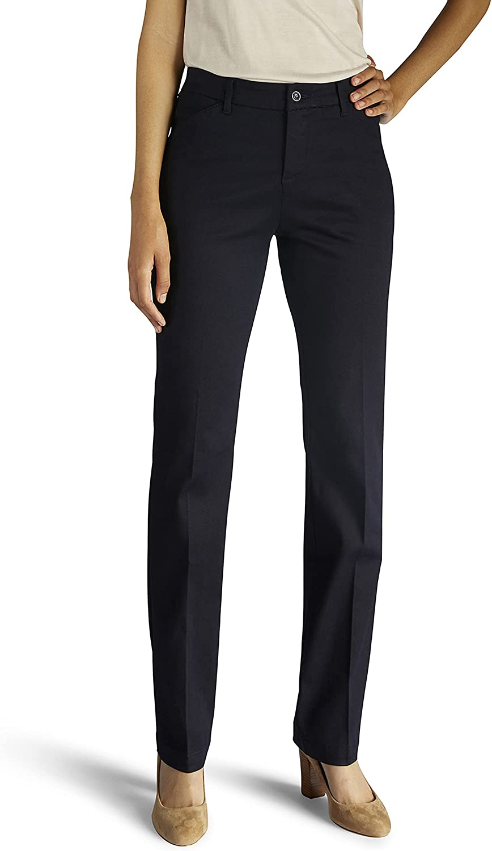 Lee Women's Max 84% OFF Flex Motion Regular Leg Pant Straight Fit Jacksonville Mall