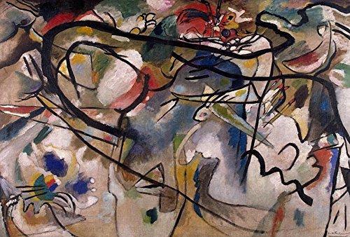 Sessel Kunstdruck Wassily Kandinsky–Titel der Durchführung: Material N ° 5–Ölgemälde auf Leinwand–Kopie maschinell ein Künstler Maler Profi Expert erlaubt Werke von Kandinsky–Maße: 60/90cm