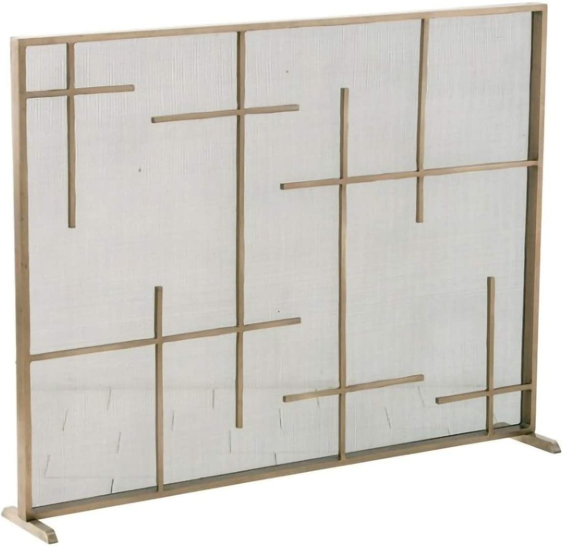 Direct sale of manufacturer YYLL Fireplace Tucson Mall Screen with Net Gold Wr Guardrail Fire