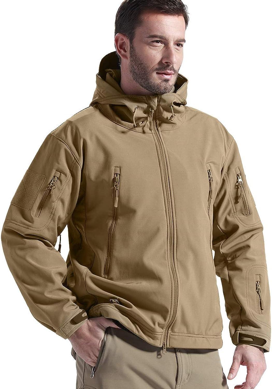 FREE SOLDIER Gratis Soldier Herren Jacken Outdoor Wasserdicht Softshell Hooded Tactical Jacket