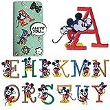 ディズニー アルファベット ワッペン 刺繍ワッペン アイロン接着 キャラクター ミッキー ミニー Disney イニシャル アイロンワッペン 正規品アップリケ 手芸 ワッペンデコ ワッペンカスタム WAPPEN (I)
