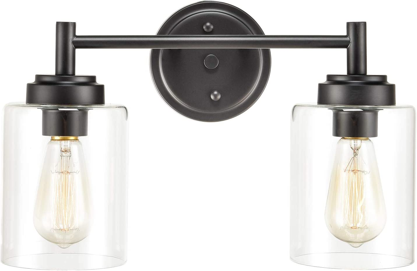 Farmhouse Wall Sconce 2-Light Black Light Bath Vanity wi 2021new shipping Luxury free Fixture