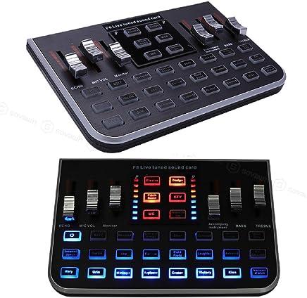 DDSHYNH Microfono Multifunzione F8 Scheda Audio USB Audio Live Broadcast Mixer Professionale Audio Digitale per Sistema Microfono Karaoke - Confronta prezzi