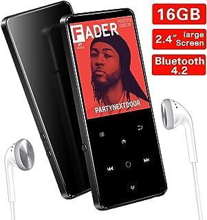 16GB Reproductor MP3 Bluetooth 4.2 SUPEREYE con Pantalla TFT de 2.4 Pulgadas, Reproductor de Música Deporte con Botón Táctil, FM Radio, Grabarora de Voz, Auriculares, Soporte hasta 64 GB TF Tarjeta