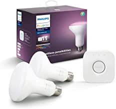 Philips Hue White & Color Ambiance BR30 Starter Kit (16 Million Colors, Compatible with Alexa, Apple HomeKit, Google Home)