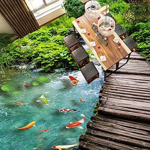 3D Benutzerdefinierte Paste Visuelle Effekte Wandbilder Badezimmer Rutschfeste Wasserdichte Verdickung 3D Wallpaper Natur Kostenlose Hintergrundbilder 400 * 280Cm