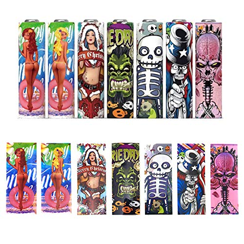 20 PCS Battery Wraps for G Series Protective Skin Decal Pre Cut Sleeves Heat Shrink PVC Tubing Tubes Make Your 18650 Battery Cool and Wonderful 7 Styles Replacement Cover Film