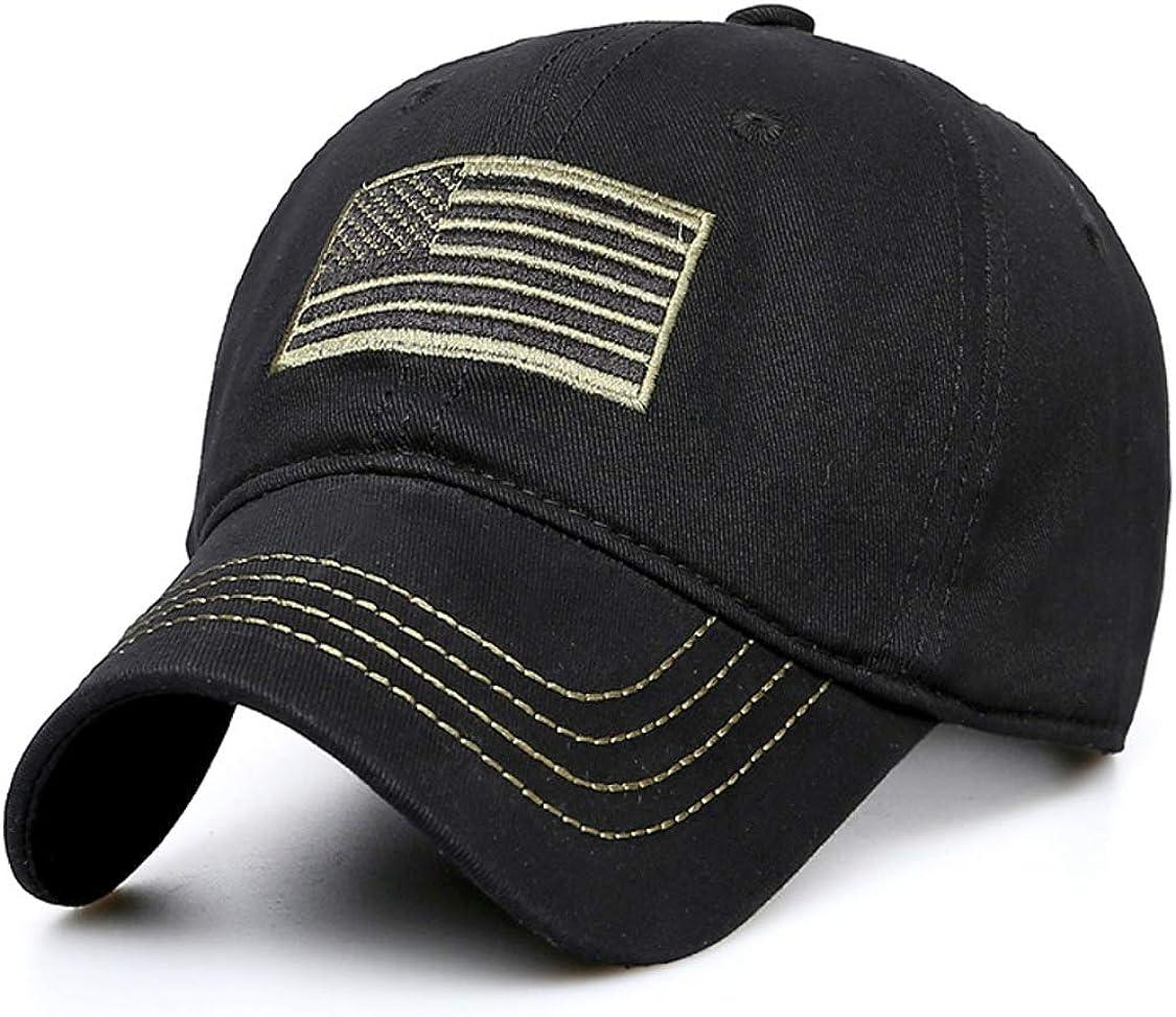 Joy box American Flag Embroidered Baseball Cap