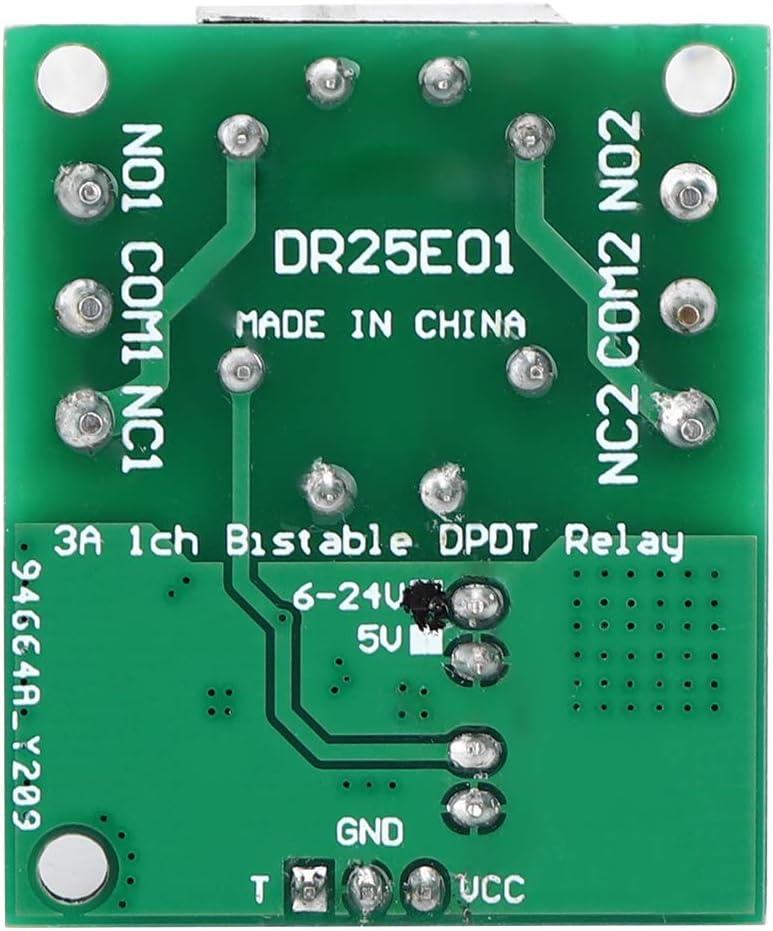 Relaismodul bistabile Relaiskarte selbstsichernde DC 5-24V 3-5A Flip-Flop-Verriegelung DPDT-Relaismodul Doppelpolige DC 5V doppelwirbelnde