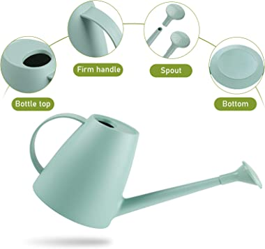 Psukhai Watering Can for Indoor Plants Garden Flower, Modern Small Water Cans Long Spout for Outdoor Watering Plants 1/2 Gall
