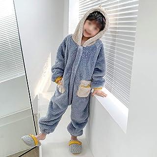 ZYSWP GEIWOKAI Niños Niños Pijamas Boys Sleepwear Girls Stitch Oneies Disfraz de Niño Cosplay Invierno Cálido Pijamas (Size : 110cm)