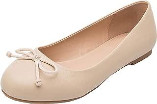 Luoika Women's Wide Width Flat Shoes - Elastic Cross Straps Slip On Round Toe Ballet Flats.