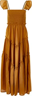 Boho Bird Womens Maxi Dresses Sand Dune Dress Mustard - Dresses