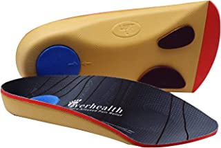EVERHEALTH 3/4 Orthotics Arch Support Insoles Plantar Fasciitis Shoe Inserts for Flat Feet/Over-Pronation/Metatarsal, Insole for Walk/Running/Hiking