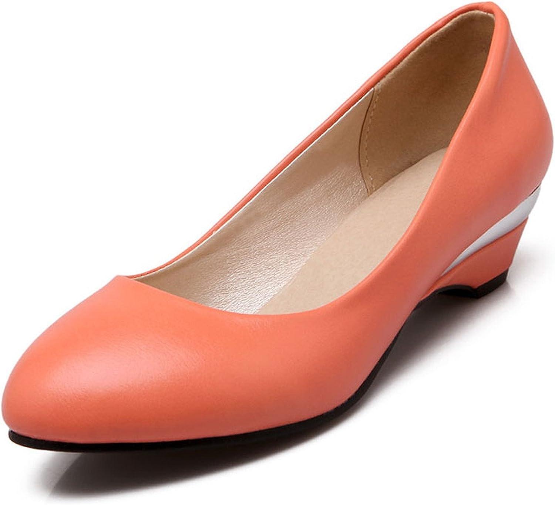 Nutsima Women Pumps Wedge shoes Autumn Elegant Classics Dress Plus Size Round Toe Low Heels Lady shoes
