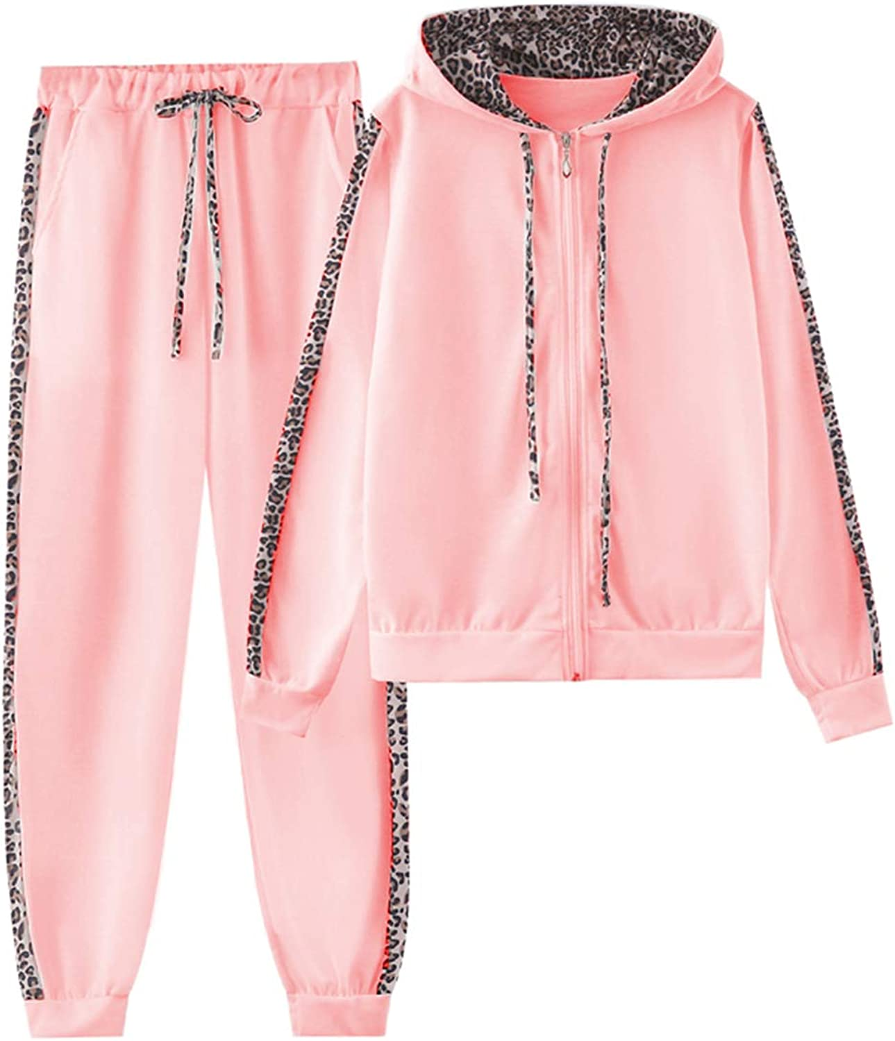 Women's 2 Piece Pullover Hoodie Drawstring Sweatpants Sport Outfits Set Jogger Sweatsuit with Pocket